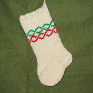 Beaded Christmas Stocking