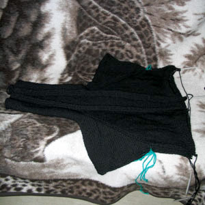The Black Blob cardigan