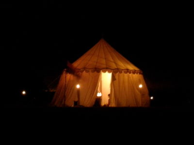 Our camp at night