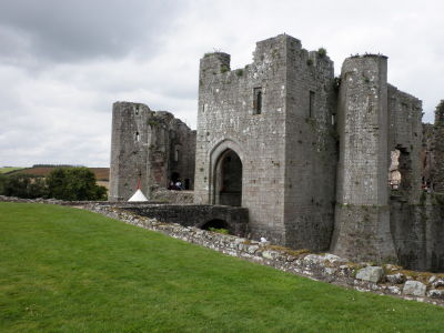 Raglan Castle side entrance