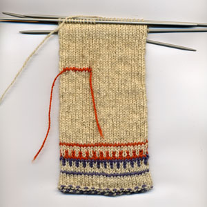 First mockup of medieval Votic mitten
